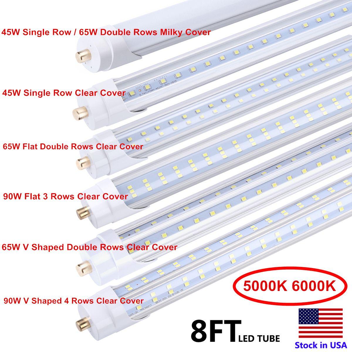 6500K 45W 단일 핀 FA8 LED 튜브 T8 8피트기구 8 feeet LED 형광 램프 AC85-265V 8피트 LED 튜브 라이트
