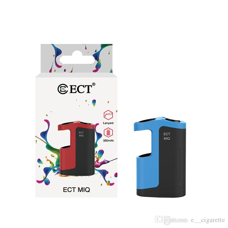 Original ECT MIQ vape mod for Thick oil 350mAh fit for 510 Thread vape cartridges Vaporizer Kit 510 Thread Battery Electronic Cigarette