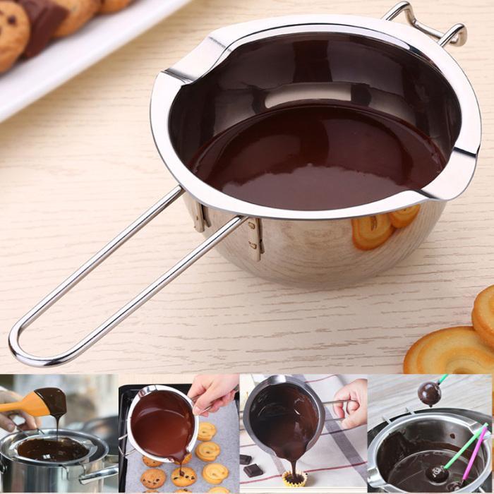 Edelstahl Doppel-Kessel, Schokolade Butter Universal-Melting Pot, Fondant Caramel Melt-Bogen, Käse Pan Heizung Backen-Werkzeuge