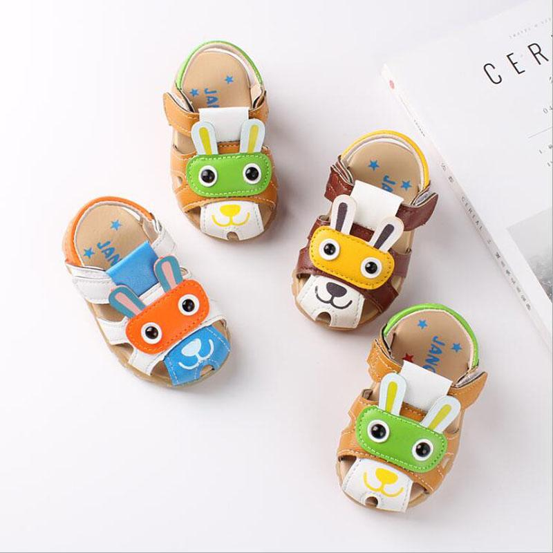 2020 Summer New Cartoon Baby Sandals Soft Breathable Infant Baby Boys Girls Shoes Anti-Slip Closed Toe Kids Shoes