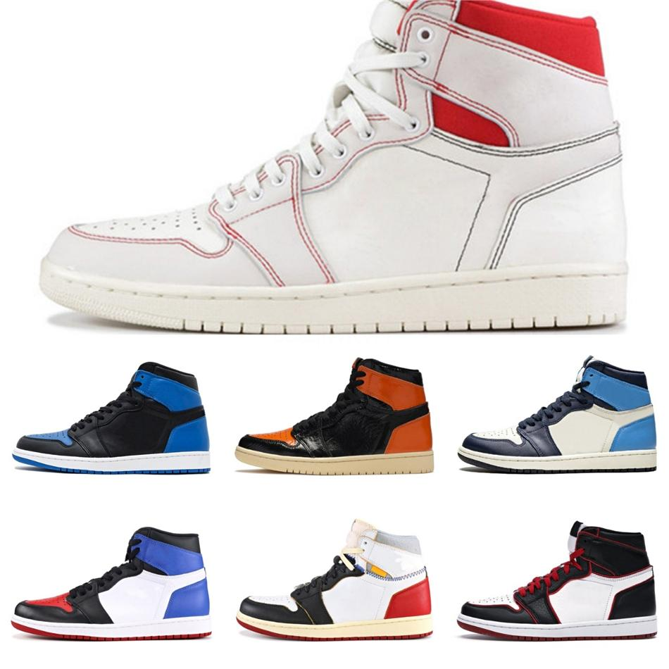 2020 Nouvelle arrivée des femmes des hommes de basket-ball 1 1S Haute Jumpman Chaussures intrépides BRED Banni Unc Twist Spideraman Turbo Sneaker vert # Designers QA124