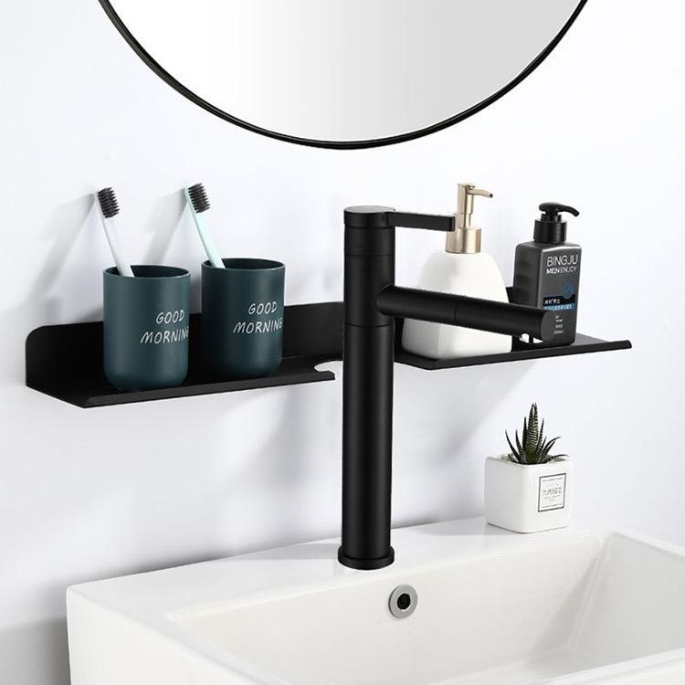 Полки для ванной комнаты Yujie YF5301 Настенная неффорированная туалетная полка зеркала передняя мытье подставку косметическая стойка для хранения