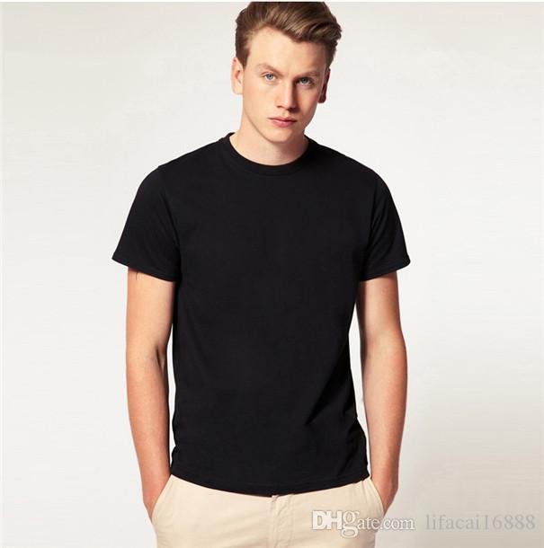 Nuevo Mejor la venta de verano de la manera ocasional de los hombres BS06 # camiseta de algodón de alta calidad 7 colores de manga corta del envío libre Tamaño S - 6XL