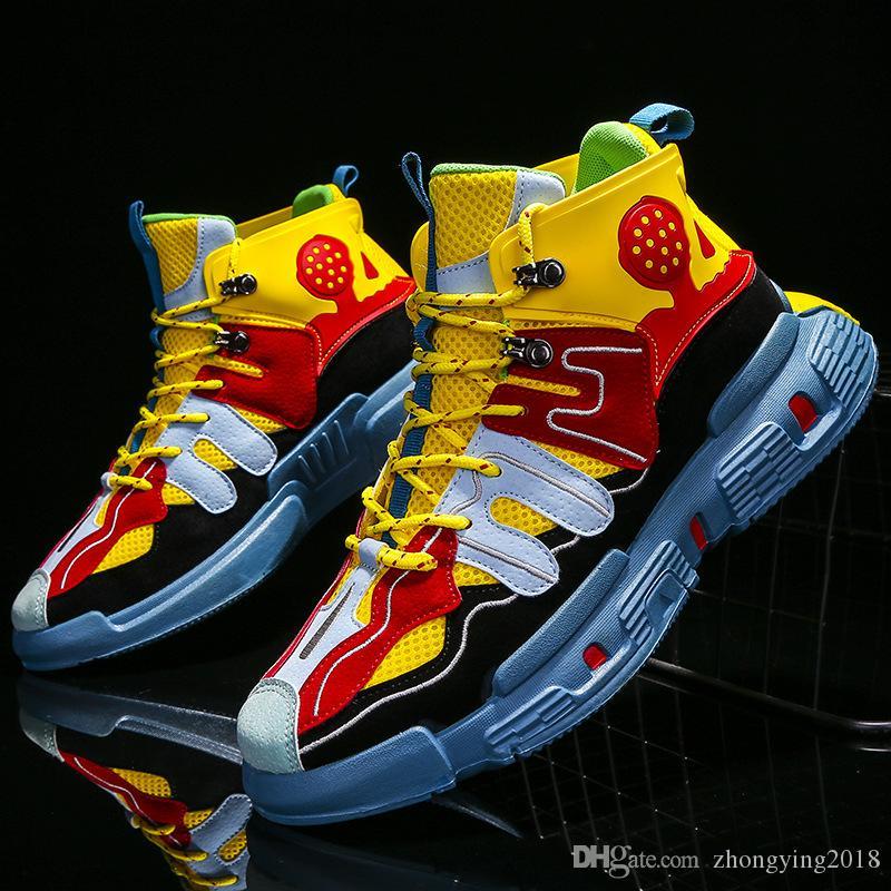 Осень красочных мужчины случайных кроссовки весна мужчины досуг обувь ходить кроссовок для человека модой изысканных мод бездельника для мужчин zy584