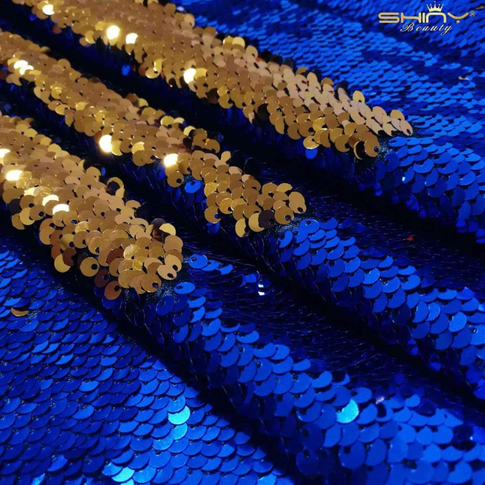 ShinyBeauty 0.5Yard Sequin Fabric, par la cour pour Tablecloth, linge, Paillette Nappe, Chemin de Table (or rose) -C0309