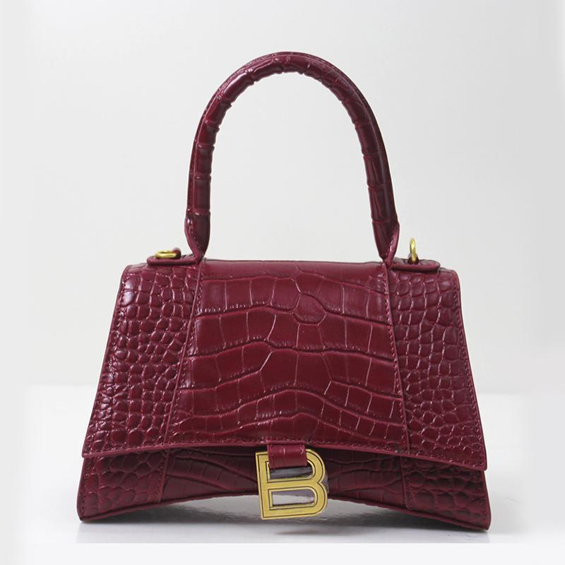 Mode-Stil Sanduhr Beutel Frauenhandtasche Damen-Schulterbeutel Alligator Rindspaltleder B Markenqualität