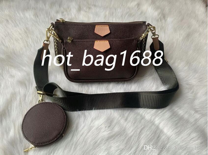 Fanny Couro Europeu Cruz Body 3 Pçs / Set Waistpacks Moeda Estilo Brande Embreagem De Ombro Feminino + Mais Novo 2020 Bag Pack Outdoor Bags Wom NTBQ