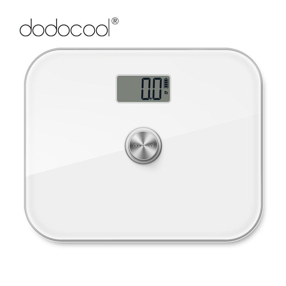 Digital Bathroom Scale w// 330 lb Pound Capacity Solar Powered LCD Display Black