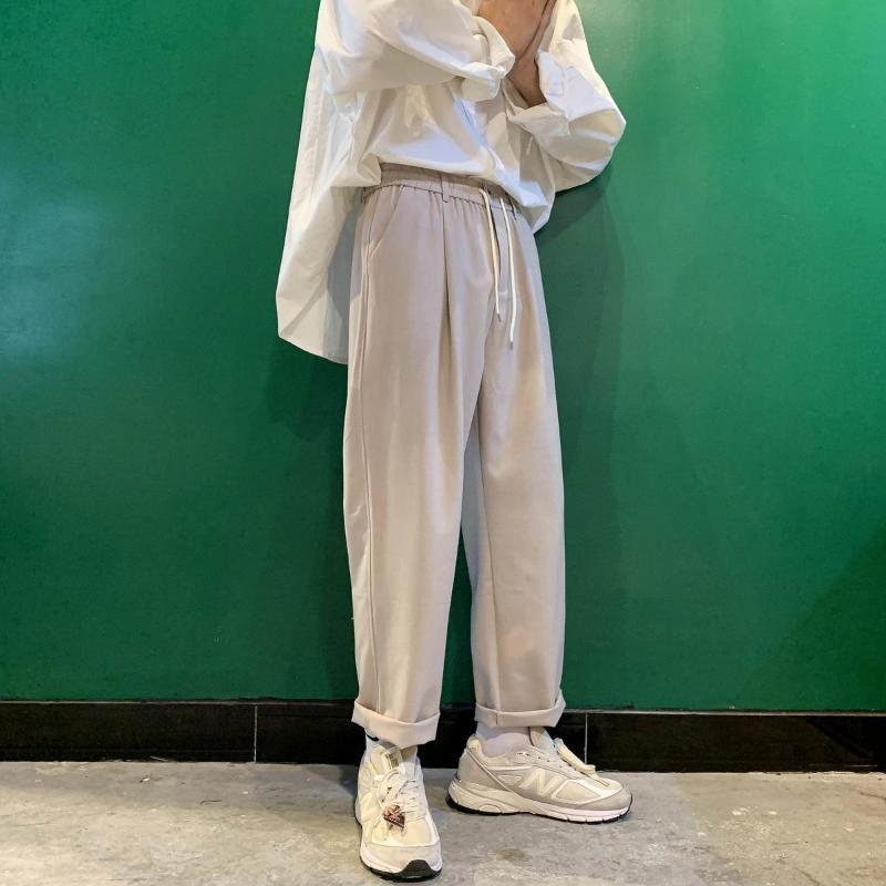 2020 Mode pour hommes Baggy élastiques Pantalons simple Pantalons de haute qualité Haren Streetwear Noir / Khaki Couleur Pantalon Taille Plus S-2XL