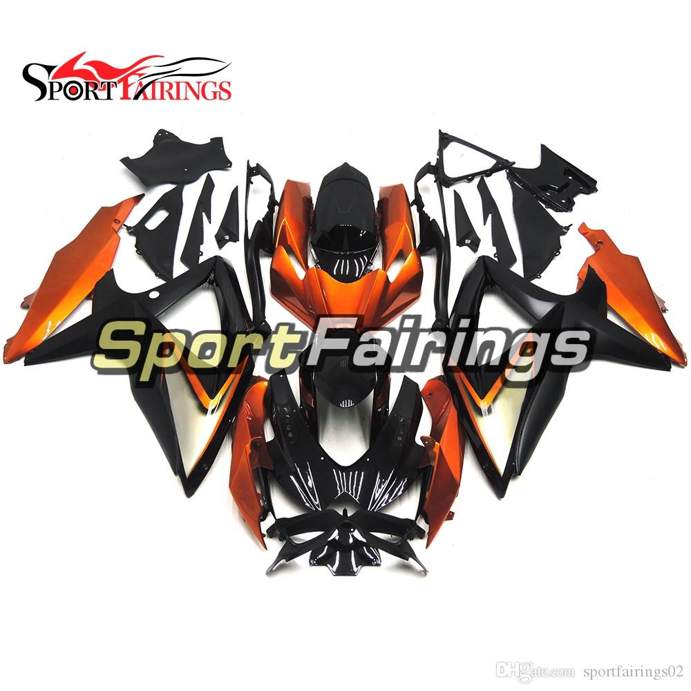 Complete Fairings For Suzuki GSXR600 K8 2008 2010 GSXR750 08 09 10 ABS Plastic Injection Body Botcley Body Work Metallic Gold Black Cover