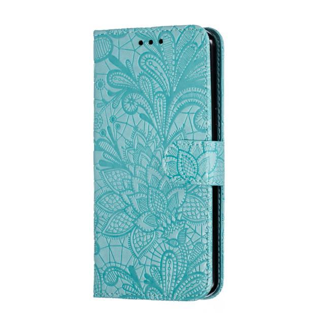 per Huawei mate20 nova3i p30 Y5 2019 onore 8s nuove coperture del telefono della carta del merletto del fiore cassa dell'unità di elaborazione del cuoio di vibrazione multi-funzione anti-caduta fondina telefono