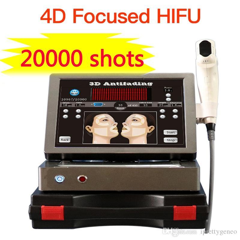 20000 plans 12 lignes 3D HIFU avec 8 cartouches focalisés de haute intensité peau ultrasons de lifting du visage de serrage appareil anti-rides 4d HIFU