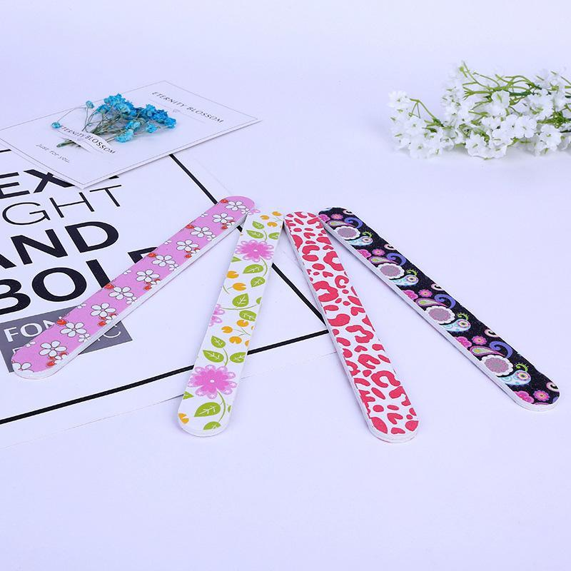 Nail Tool Fashion Printing Two-sided Nail File EVA Grind a Manicure Setback Sand Bar Strip Grind Sand Block Nail File 3006104