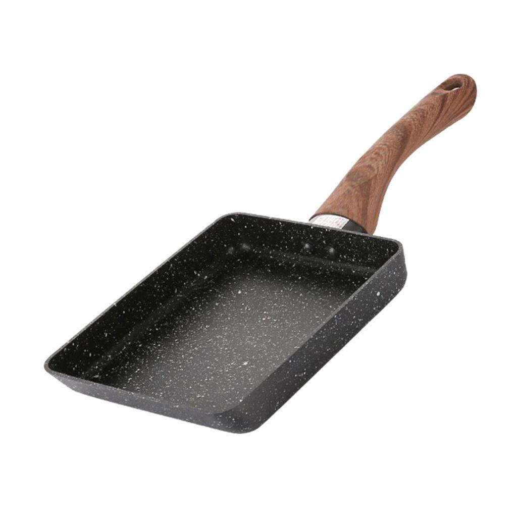 "5x7 antiadherente Sartén Sartén Tamagoyaki Tortilla de utensilios de cocina Negro / color de rosa \"""
