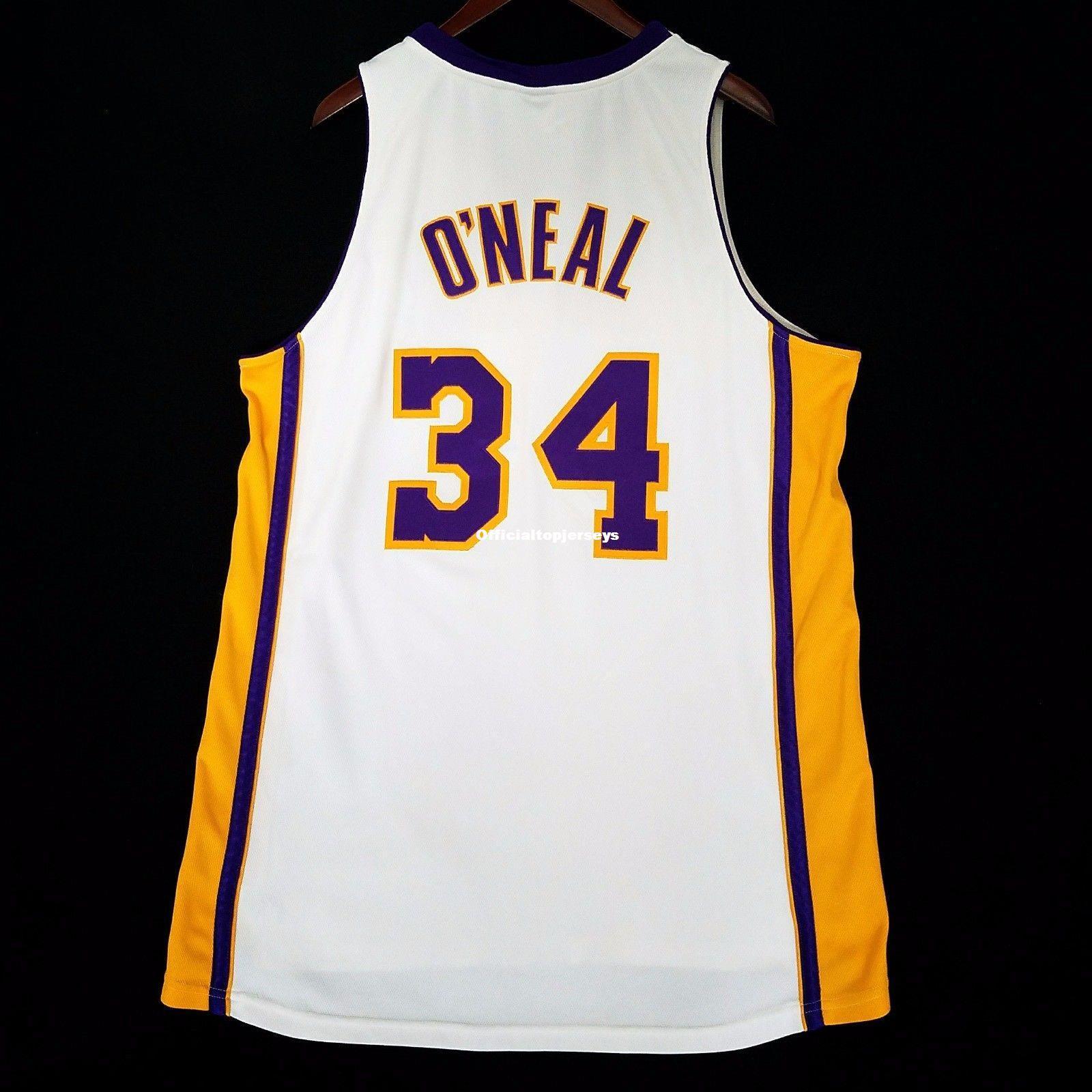 100% Costurado # 34 Shaquille O'Neal Shaq Oneal Branco atacado Jersey Mens Colete Tamanho XS-6XL Costurado basquete Jerseys Ncaa