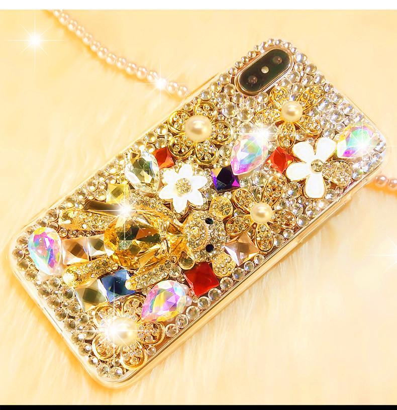 Beautiful Luxury Diamond case For iPhone X XS Max XR 6 6s 7 8 Plus 5 5s SE 4 4s Rhinestones Cover