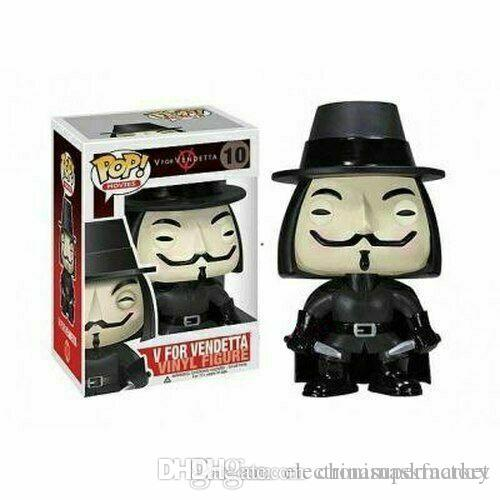 China Hot sell Funko POP V for Vendetta !!! Model Vinyl Vendetta Figure #10 for kids