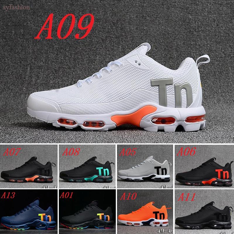 2019 Off New Black Rainbow Air Mercurial plus Tn Ultra SE KPU blanc Chaussures de course ventilation accrue Formateurs Chausseures Designer Shoes