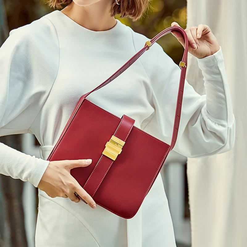 Moda Nero Nuovo rosso semplice ragazze box donna borsa Blocco Piazza signore di Crossbody di lusso Donne Borse Designer