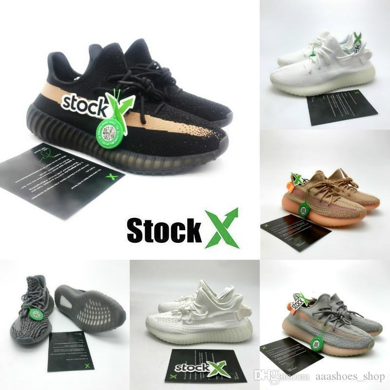 Kanye West Utility Preto Vanta Tephra Running Shoes Inércia Analog Og Beluga Preto Vermelho Semi congelado Mens Womens Designer Shoes 36 -46