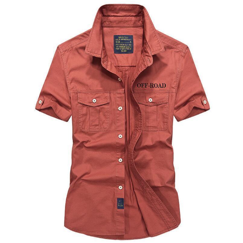 Camicie da uomo originali Afs Jeep marca respiro corto plus size 4xl agghiacciante estate importato abbigliamento sociale masculina Y19071301