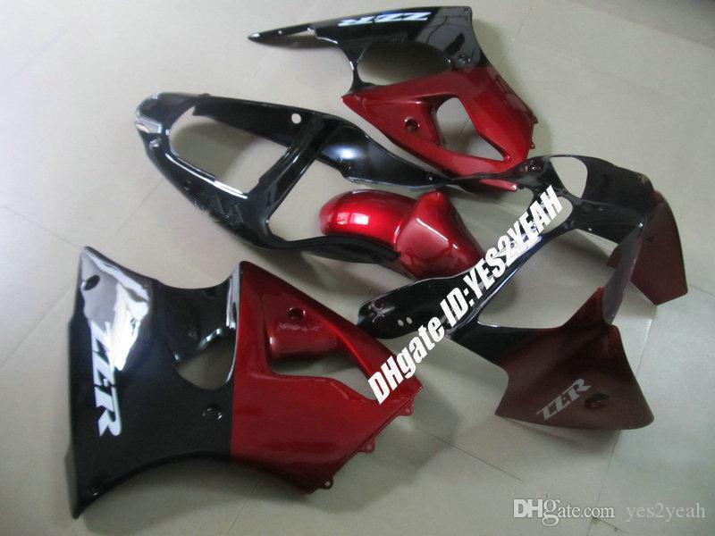 Kit de cuerpo de carenado de inyección para KAWASAKI Nija ZZR600 ZZR 600 05 06 07 08 ZZR600 2005 2008 rojo negro Carenados set + regalos KU23