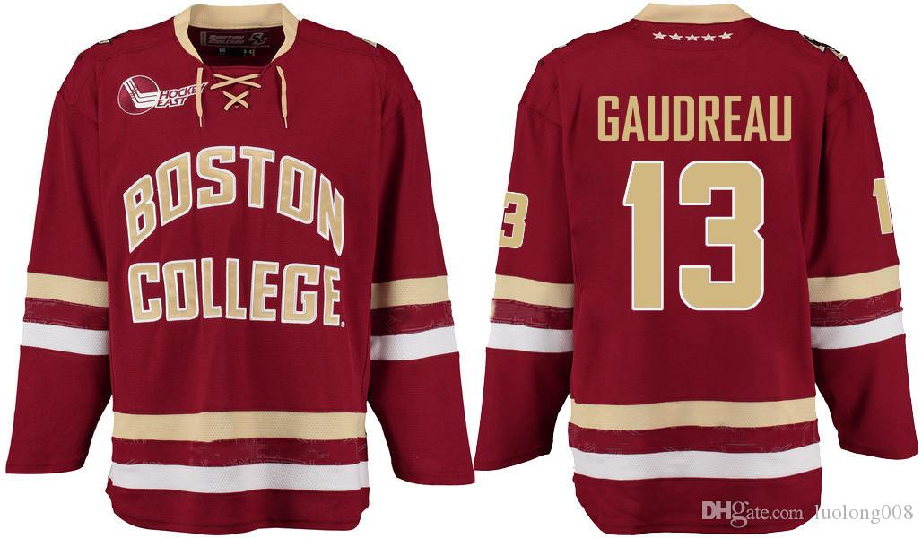 2020 Red BOSTON COLLEGE JOHNNY GAUDREAU Hockey Jersey