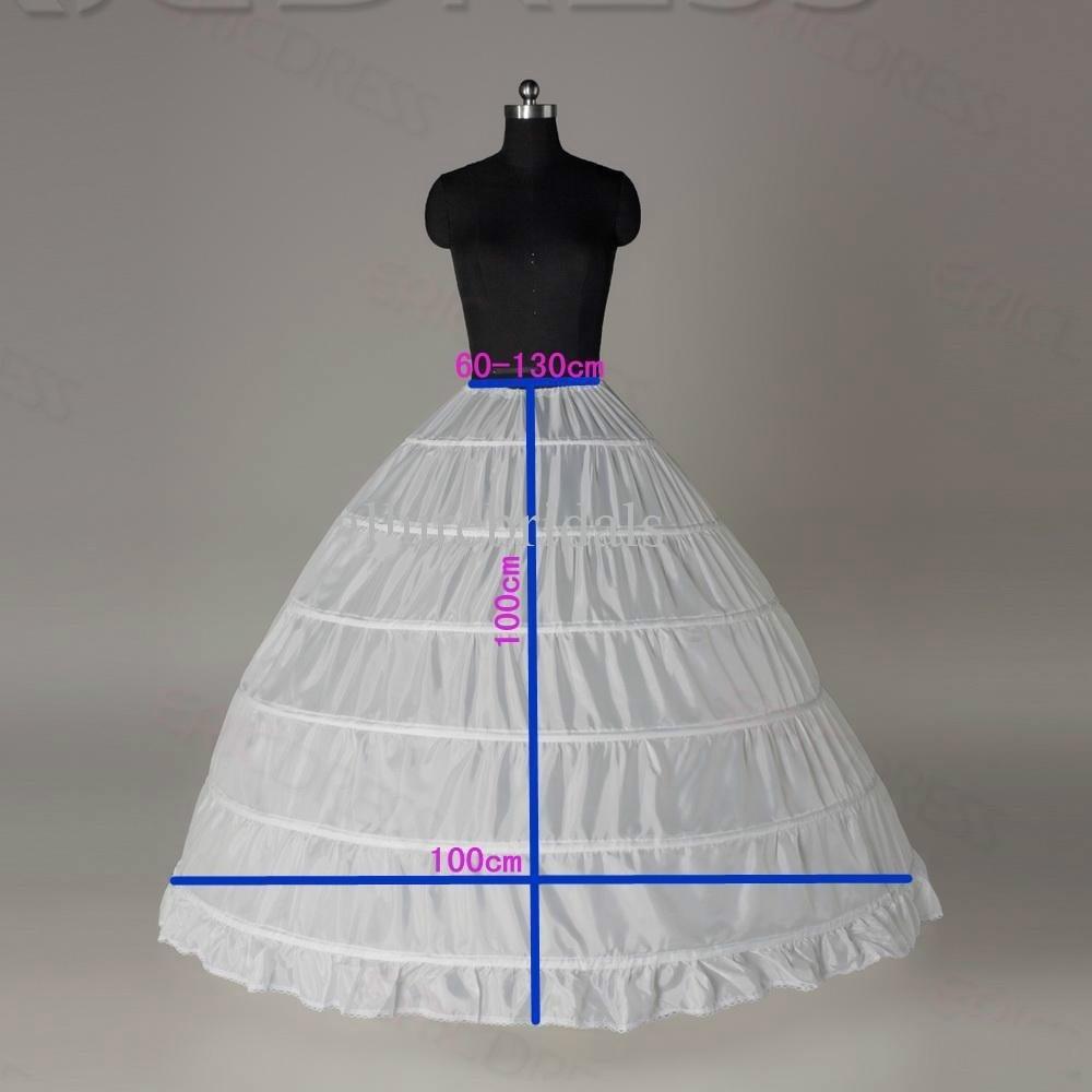 في المخزون الكرة بثوب التنورة الداخلية رخيصة الأبيض أسود ثوب قماش قطني تحتية الزفاف زلة 6 هوب تنورة قماش قطني لاللباس Quinceanera