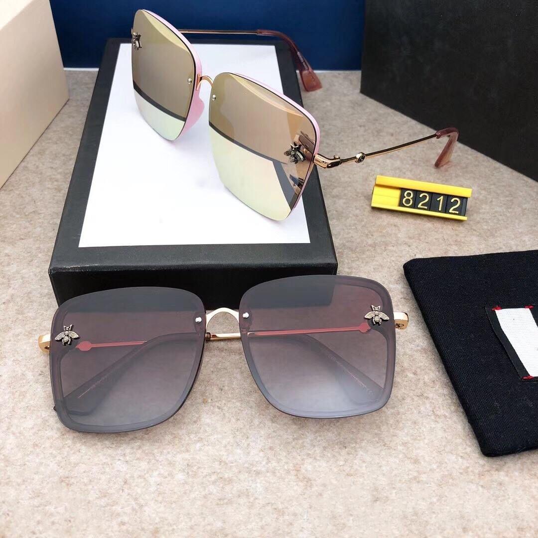 Marchi Occhiali da Sole donne di modo di ape protezione UV400 Sport Vintage Occhiali da sole Retro occhiali con la scatola libera e casi