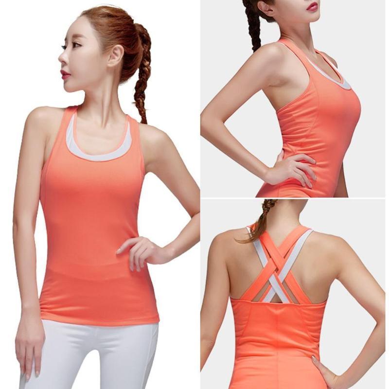 Женщины Йога Установить Gym Workout Одежда Crop Top бретели Бесшовные Tight высокой талией дизайн