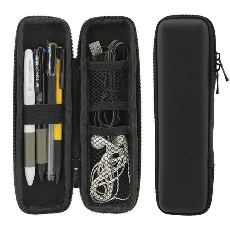 Preto EVA Hard Shell Stylus Pen Pencil Case Holder Caixa de transporte de proteção Bolsa Recipiente de armazenamento para caneta Caneta esferográfica Stylus