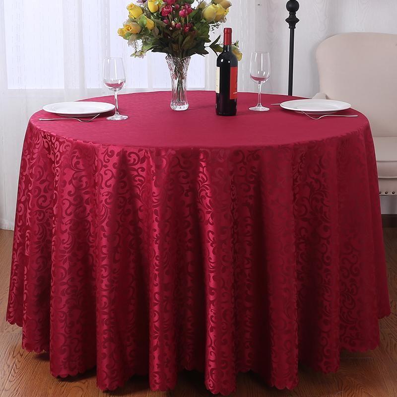 Tamaño personalizado YRYIE Europa jacquard tabla de blanco cubierta redonda banquete del partido lavable decoración exterior de poliéster mantel protector Y200421