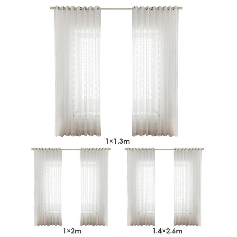 1x Praça do Windows Tulle cortinas impresso Modern translúcido Triagem Yarn Drape para uso doméstico Sala Acessórios