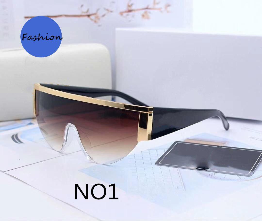 Summer Beach Hommes Femme Sunglasses Mode Lunettes de soleil Adumbral pour Homme Femmes UV400 Modèle 0019 6 Couleur Très qualité avec boîte