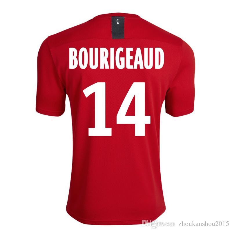 Stade Rennais 19-20 Главная Футбол Футбол 2019 2020 Rennes Maillot de Foot # 7 Сарр # 11 Niang # 14 Bourigeaud # 21 Andre Hunou Футболка