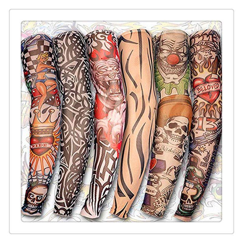 Tattoo Ärmel UV kühlen Arm Sleeves Radfahren Laufen Arm Warmer Tätowierung Apppparel Sport elastische Ärmelschoner Armlinge Tattoos Body Art
