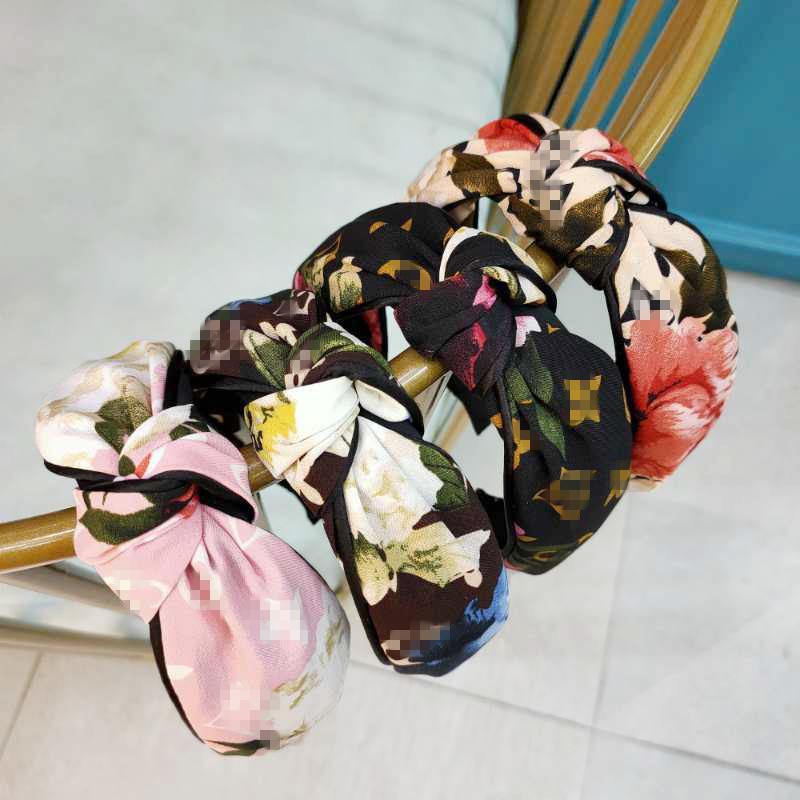 Venda de la flor de la vendimia banda para el cabello anudado para Simple manera de las mujeres coreanas INS pelo de las muchachas Accesorios Hada nudo de Hairband