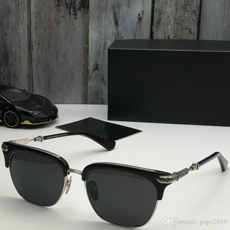 ممتاز مصمم الأزياء جودة النظارات الشمسية شبه بدون إطار نظارات شمسية لرجل إمرأة نوع ذهب إطار العدسات الخضراء G15 الزجاج مع حالات ومربع