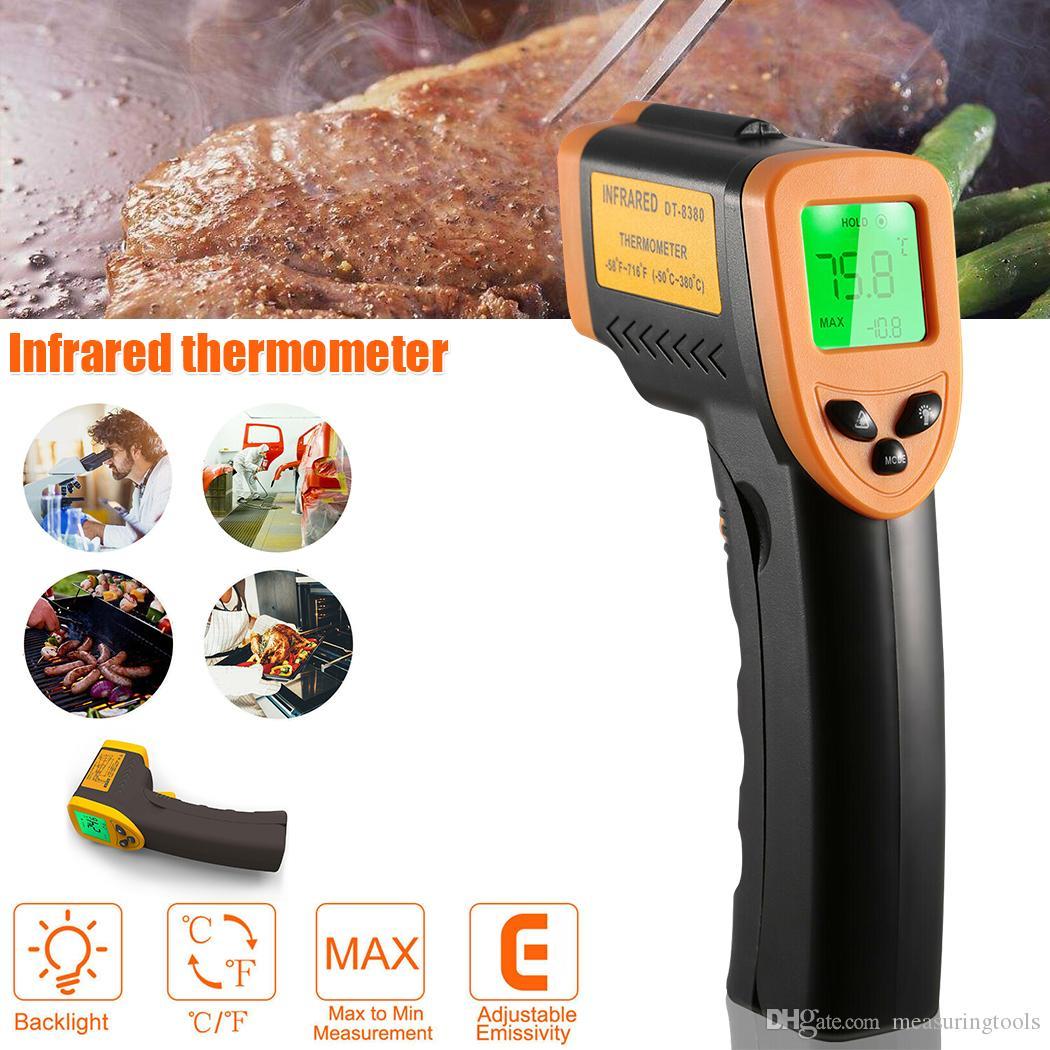 Infrared Thermometer المنزلية الرئيسية -50C-360C -58F-680F بندقية درجة الحرارة عدم الاتصال الأشعة تحت الحمراء الحرارة اختبار درجة الحرارة متر الليزر