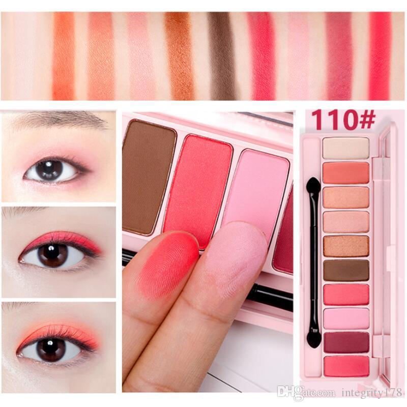 Hold live peach matte paleta da sombra de olho para sombras vermelhas coreano marca de maquiagem rosa flor de cerejeira glitter eyes sombras 60 pçs / lote dhl livre