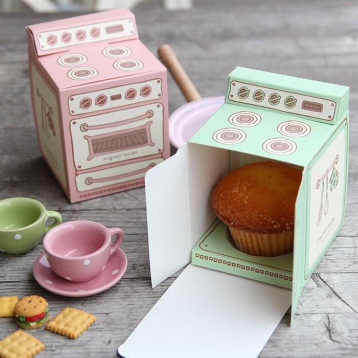 Scatola da regalo stampata forno vintage, scatola di bigné, bomboniera per bomboniere 30PCS / LOT
