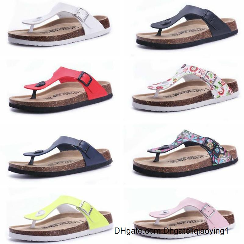 2020 Free shipping 21 color New arrival summer woman men flats sandals Cork slippers unisex casual shoes print mixed colors flip flop size