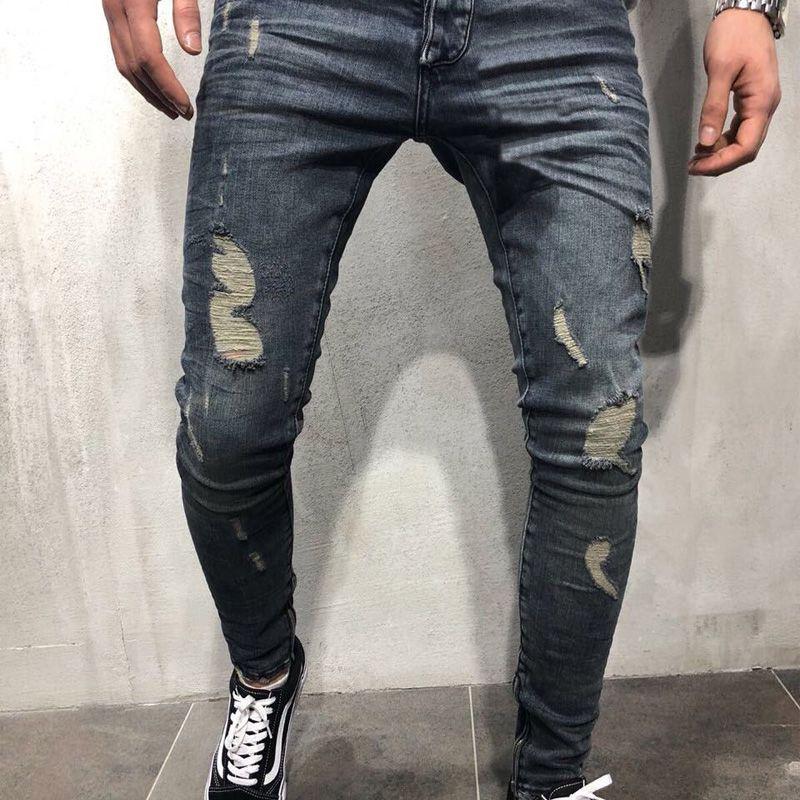 Compre Pantalones Para Hombre De La Marca Cool Designer Pantalones Vaqueros Ajustados Desgastados Estrechos Ajustados Pantalones De Lupulo Con Agujeros Para Hombres A 7 55 Del Dhdg520 Dhgate Com