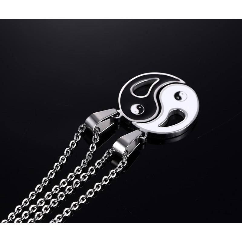 Fascino del pendente Collane otto schemi Yin Yang in bianco e nero Migliori amici amicizia Coppie regalo di San Valentino Lover