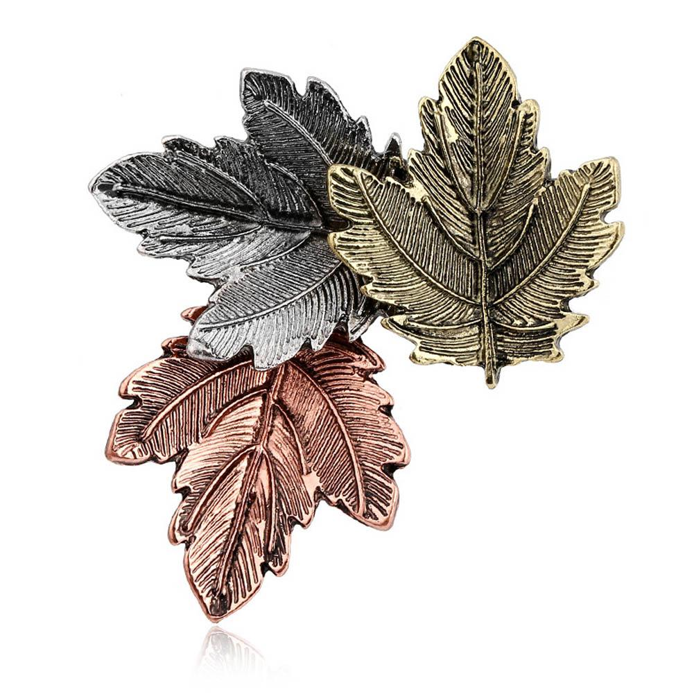 2019 new fashion Vintage Pin Maple Leaf Brooch alloy Brooches Pins Exquisite Collar For Women Dance Party jewelry Accessories 10pcs/lot