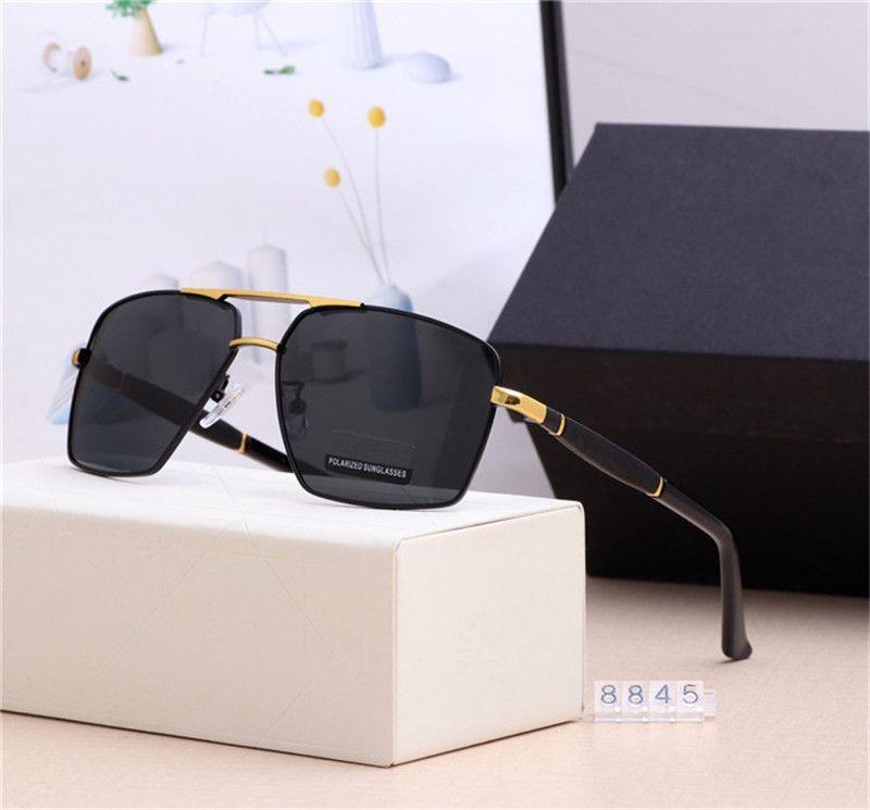 Estilo azul 8845 homens óculos de sol designer moda nova luxo cores dirigindo óculos férias viagens essenciais óculos de sol polarizados 4 len sjlo