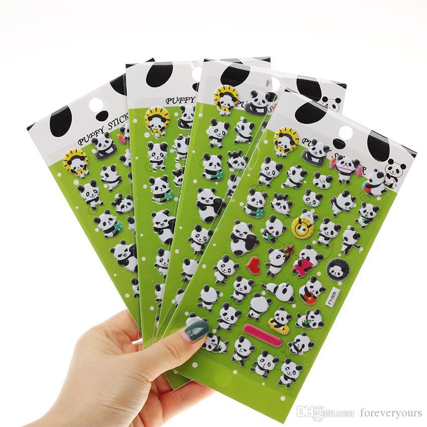 الباندا 3D فقاعة ملصقات الديكور ملصق DIY يوميات البوم KAWAII القرطاسية ملاحظات مذكرة الوسادة الذاتي لاصق ملصقات 17.5 * 8.5CM