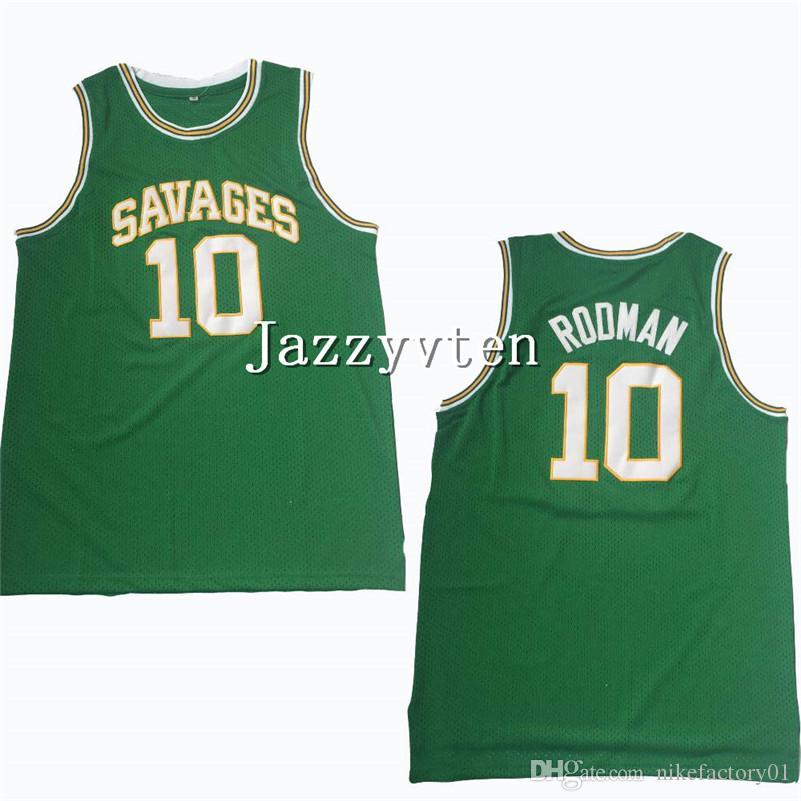 자수 최고 품질 고등학교 데니스로드 먼 대학 유니폼 10 농구 오클라호마 야만인 저지 남성 통풍 대학 셔츠