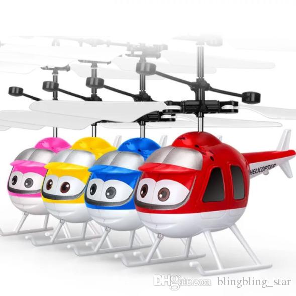 RC helicopter Drone kids toys Flying Ball Aircraft Led Flashing Light Up Toy Fighter Induction Electric sensor for Children