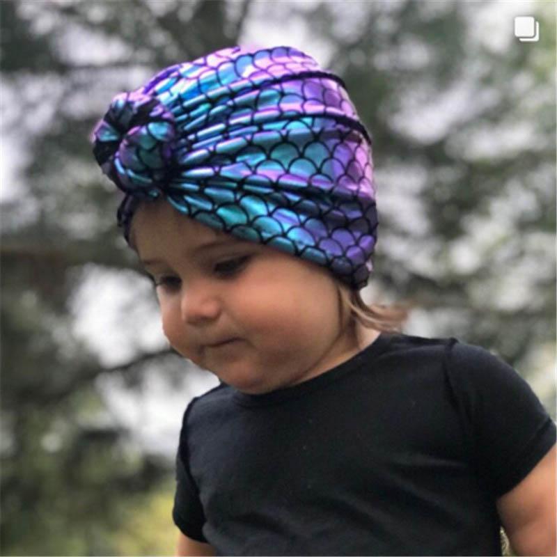 INS جديد حار بيع حورية البحر طفل القبعات القبعات حديثي الولادة لطيف الفتيات القبعات الاطفال مصمم قبعة الفتيات قبعات الأطفال قبعات الطفل الاكسسوارات A7614